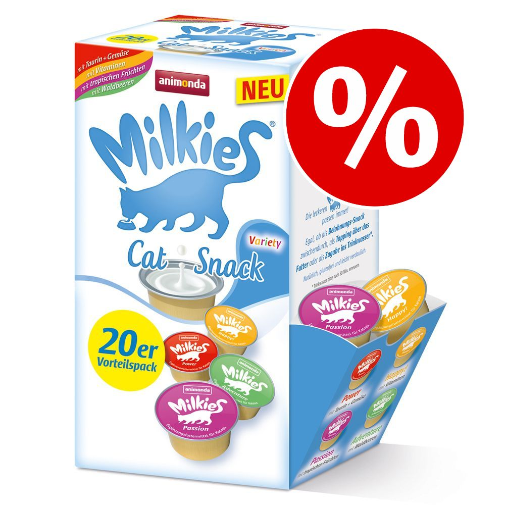20 x 15 g Animonda Milkies Selection i blandpack till sparpris! - 20 x 15 g Power, Happy, Passion & Adventure