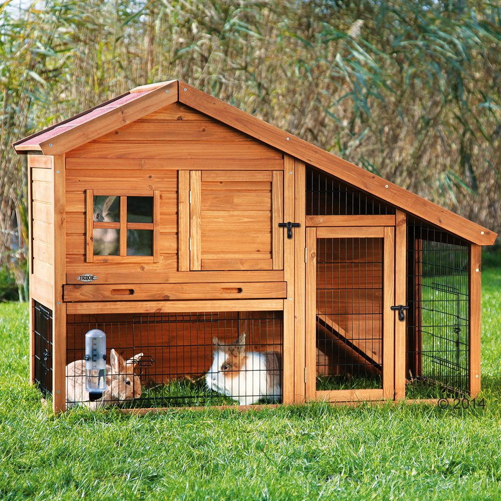 The Hutch Trixie Natura Luxury from premium timber is a luxury home for your small pets and a real eye-catcher in your garden! A pull-out plastic tray across the w...