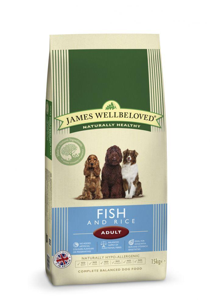 James Wellbeloved Adult Complete Fish & Rice – 15 kg