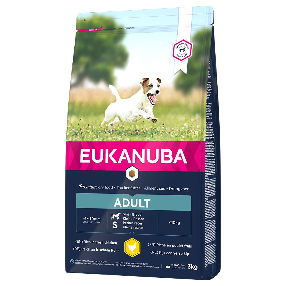 Image of Eukanuba Adult Small Breed Pollo - Set %: 2 x 3 kg