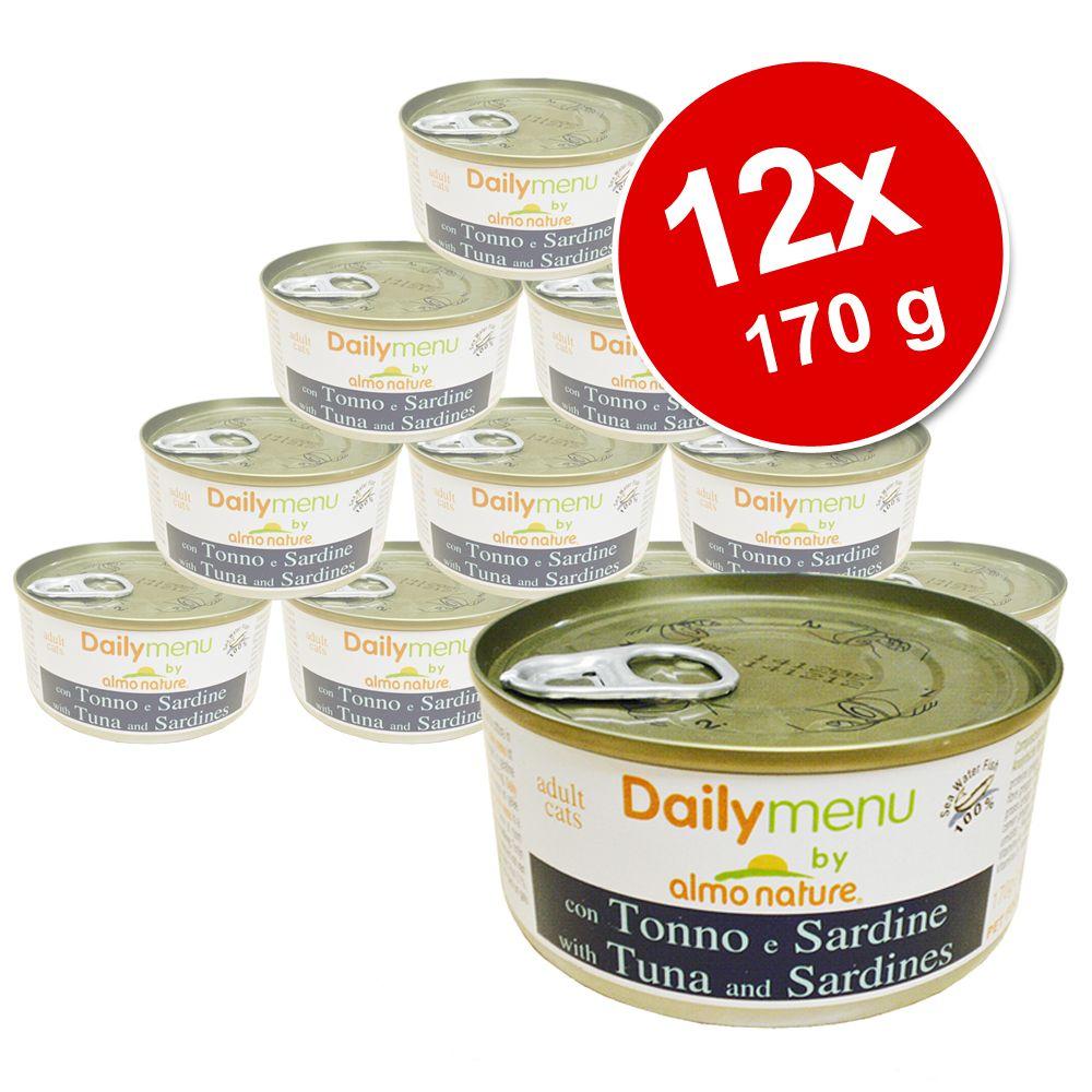 Korzystny pakiet Almo Nature Daily Menu, 12 x 170 g - Tuńczyk i kurczak