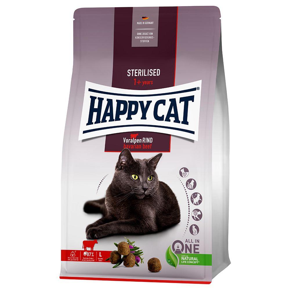 Happy Cat Sterilised Adult Bavarian Beef - 10 kg