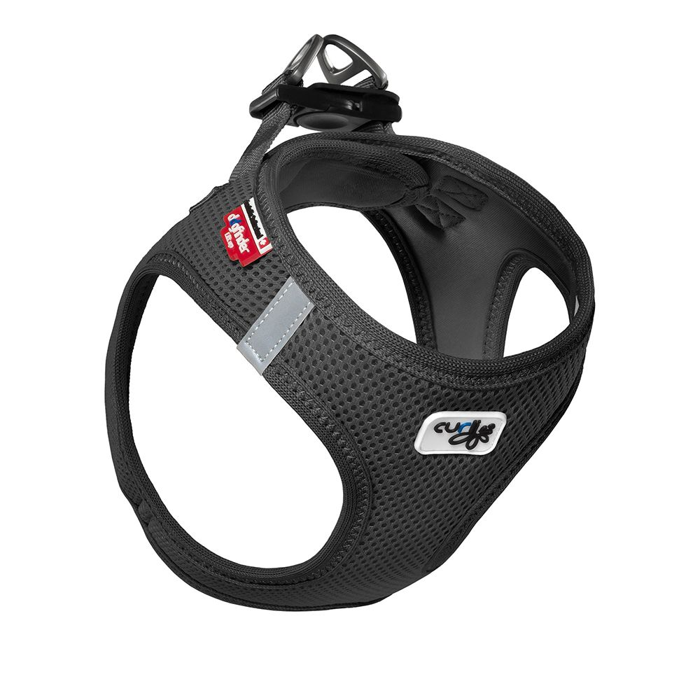 Curli Vest Geschirr Air-Mesh - schwarz - Größe M: Brustumfang 45 - 50 cm