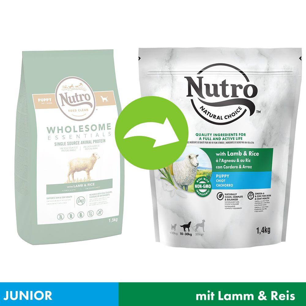 NUTRO Hund Puppy 10-30 kg mit Lamm und Reis - 1,4 kg