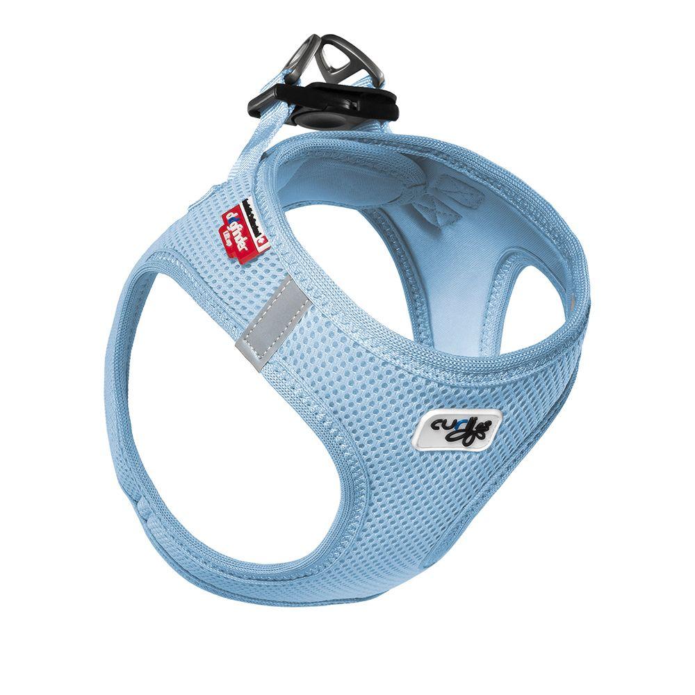 Curli Vest Geschirr Air-Mesh - himmelblau - Größe S: 40 - 45 cm Brustumfang