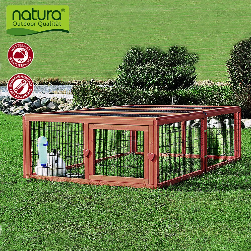 Rongeur Co Enclos Enclos en bois Enclos Natura pour lapin et rongeur