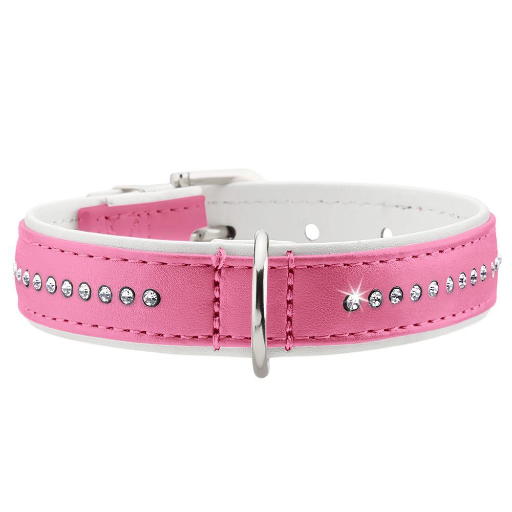 Str37 Modern Art Luxus pink/hvid HUNTER hundehalsbånd