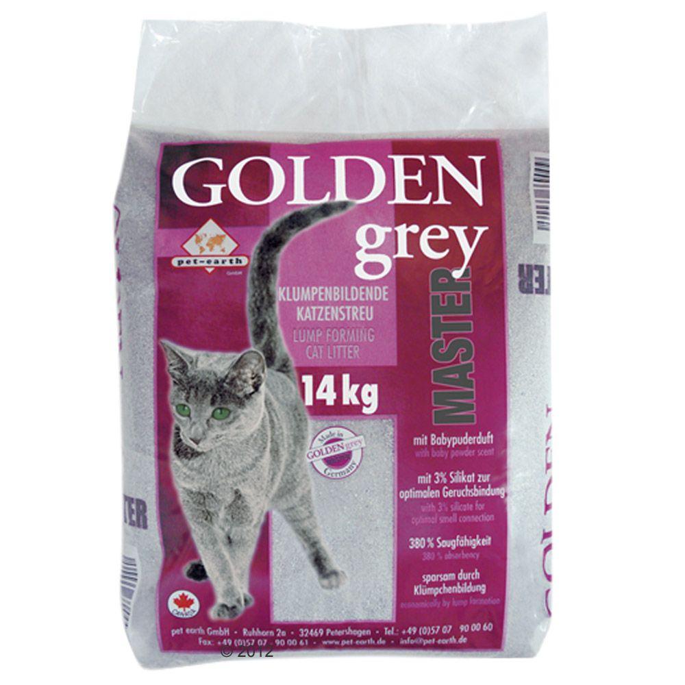 14 kg Golden Grey Master Babypuderduft Katzenstreu