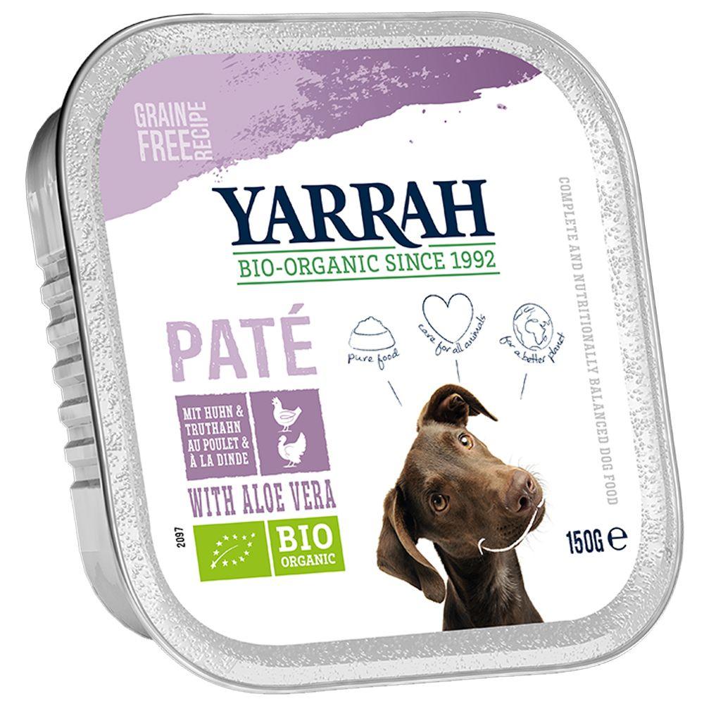 Yarrah Bio Wellness Pate 6 x 150 g - Mix: 3 Sorten
