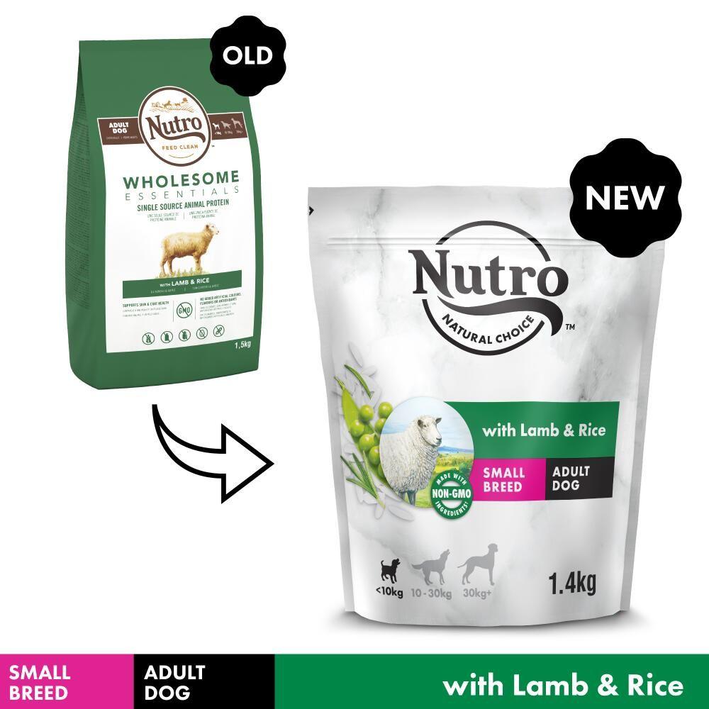 1,4kg NUTRO Hund Adult <10 kg Lam & Ris Nutro Hundefoder