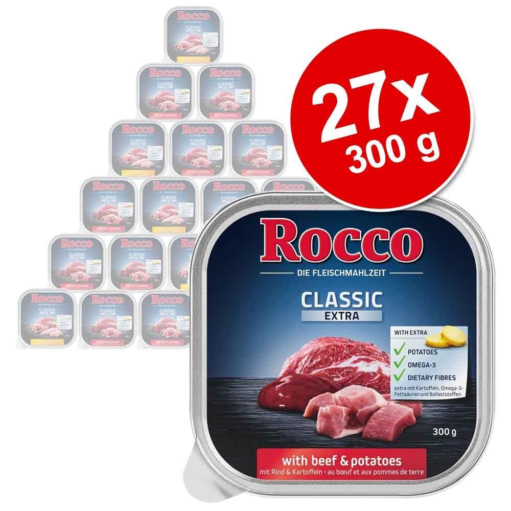 Varčno pakiranje Rocco Classic Extra 27 x 300 g - Mešano pakiranje, 2 vrsti