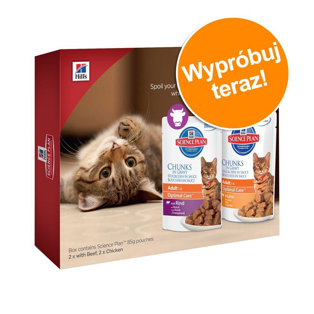 Pakiet próbny Hill's Feline Adult, 4 x 85 g - 4 x 85 g wołowina i kurczak