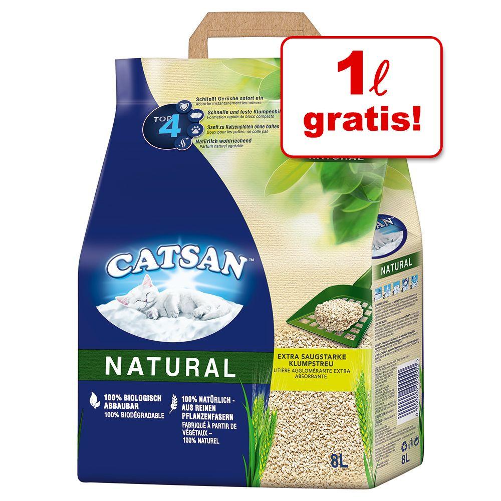 7 l + 1 l på köpet! 8 l Catsan Natural - 8 l
