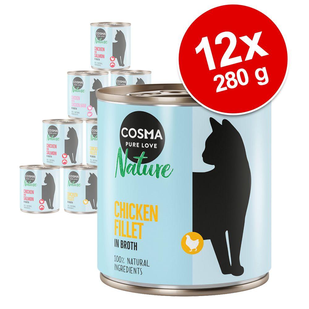 Varčno pakiranje Cosma Nature 12 x 280 g - Pacifiška tuna