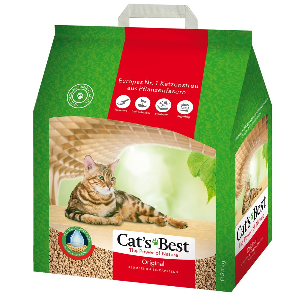 Cat's Best Öko Plus / Original kattsand - 10 l (ca 4,5 kg)