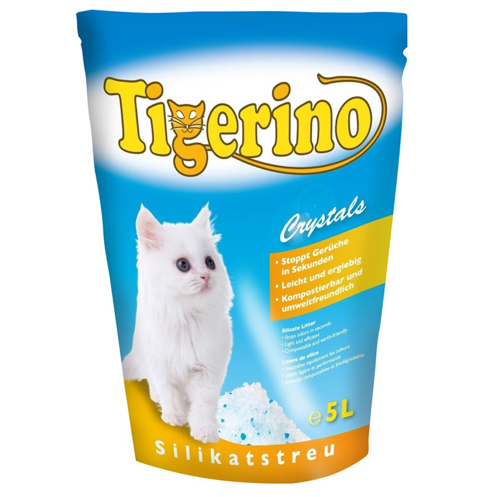 3 x 5l Tigerino Crystals + 400g Concept for Life Free!* - Sensitive Cats
