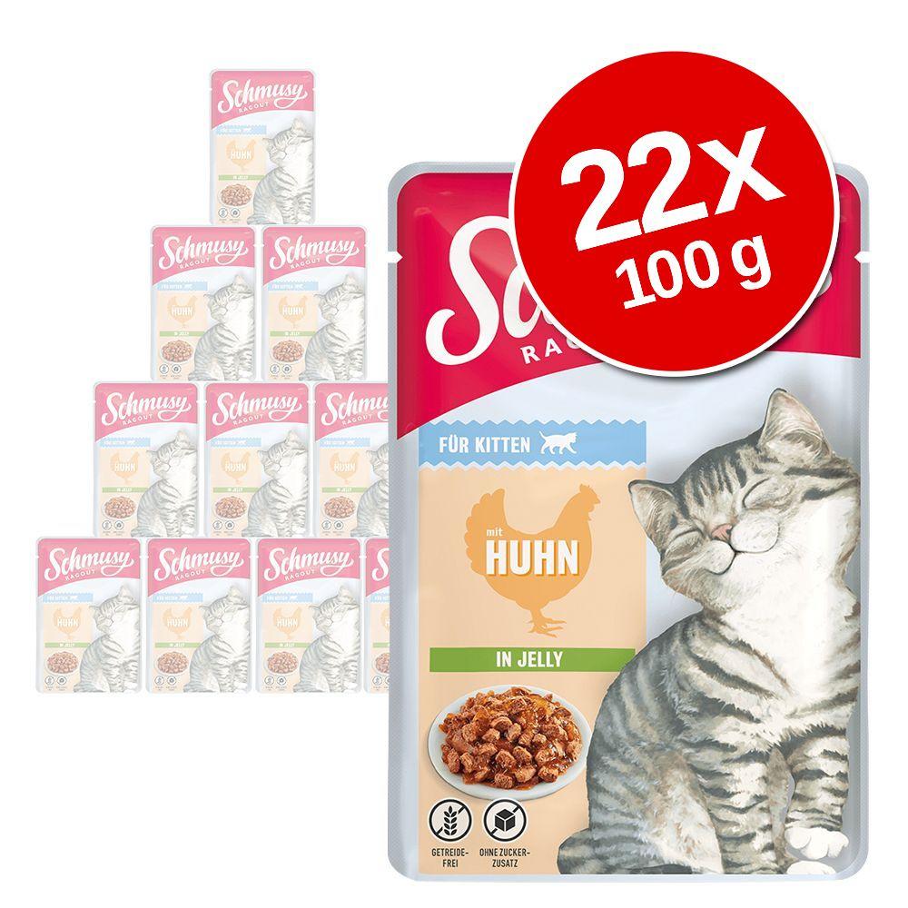 Image of Schmusy Ragout Kitten in Gelatina 22 x 100 g - Pollo