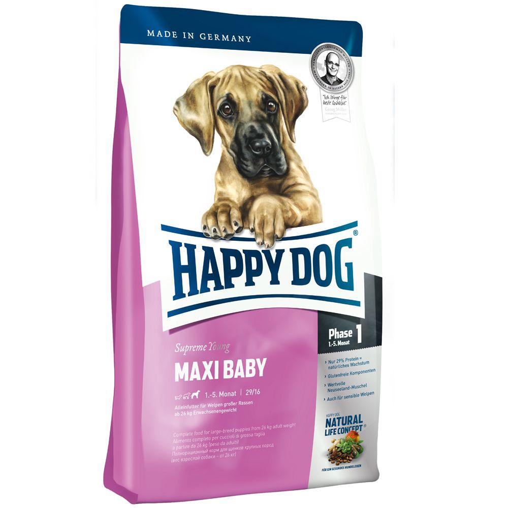Foto Happy Dog Supreme Young Maxi Baby (Fase 1) - 2 x 15 kg - prezzo top! Happy Dog Supreme Junior