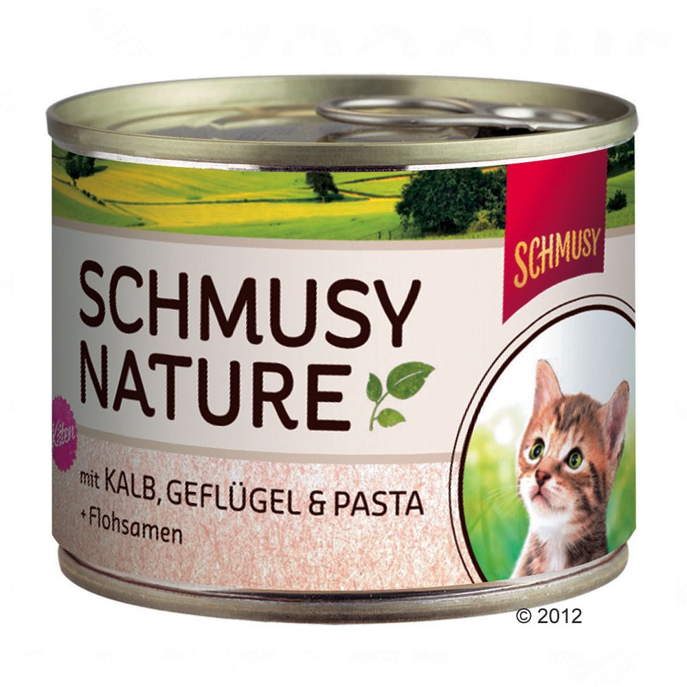 Schmusy Nature Kitten - Lachs, Lamm, Reis & Fis...