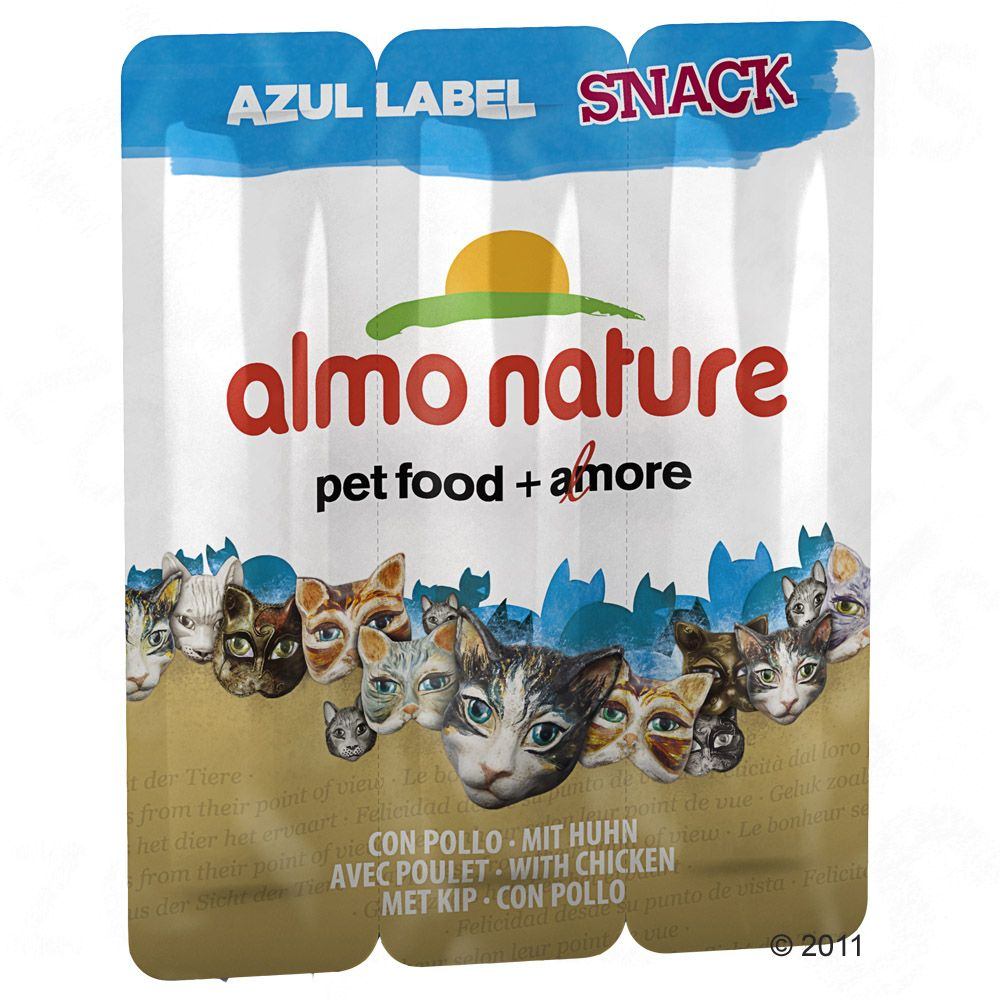 Almo Nature Azul Label Snack - Kyckling, 3 x 5 g