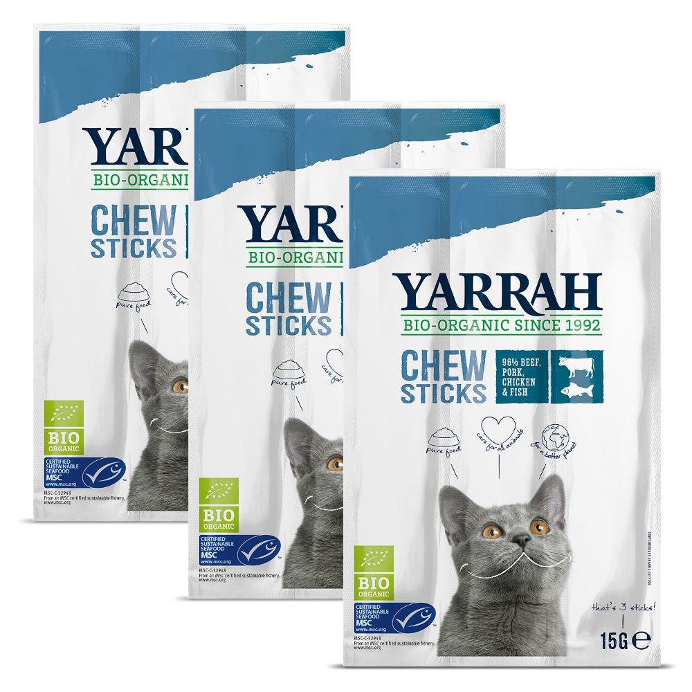 Yarrah Organic Chew Sticks - Ekonomipack: 6 x 3 st