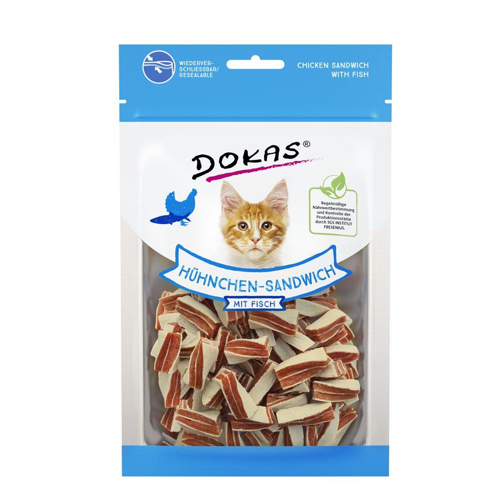 Dokas Friandises à mâcher sandwich poulet pour chien et chat - 70 g