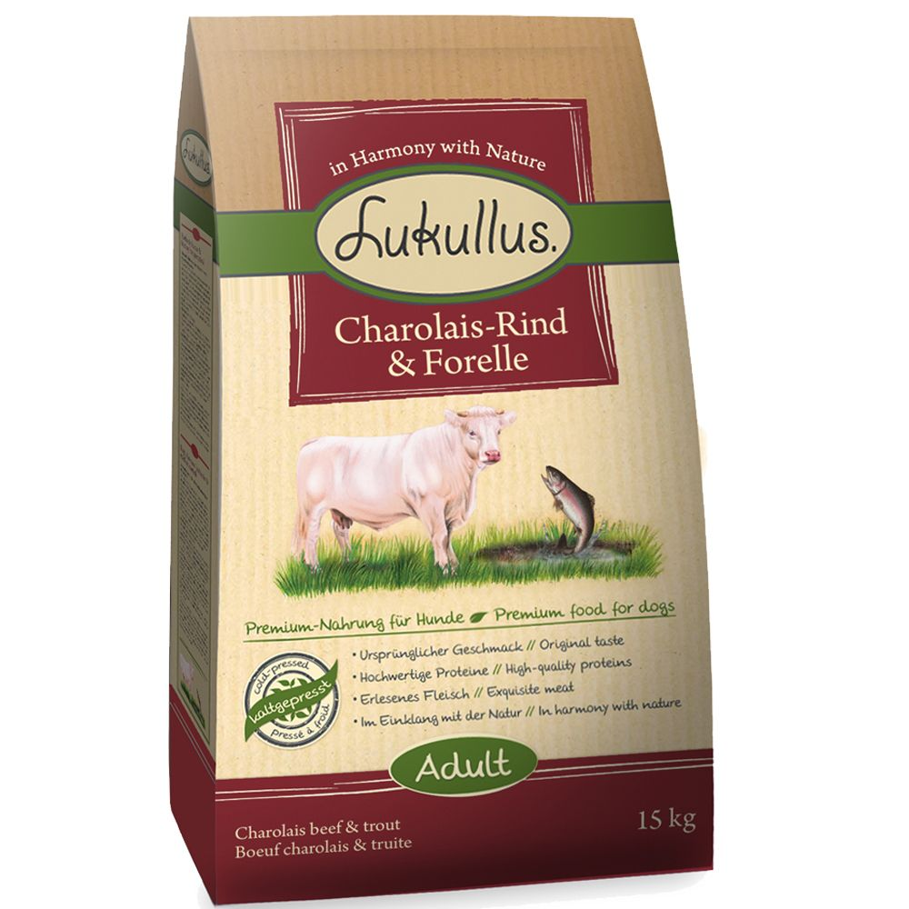 Lukullus Dog Food Charolais Beef & Trout – 1.5kg