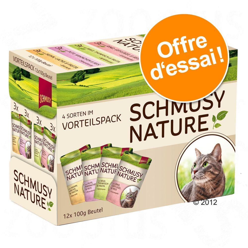 Chat Boîtes et sachets Schmusy Boîtes pour chat Schmusy Nature