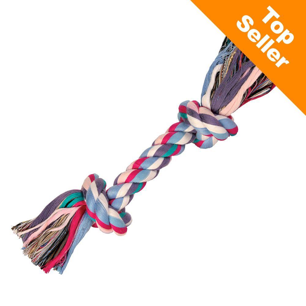 Trixie kolorowa lina do zabawy dla psa - 25 cm, 125 g