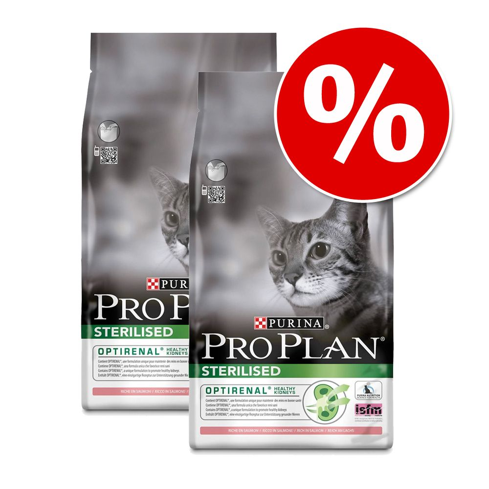 Ekonomipack: Pro Plan kattfoder till superpris! - Sterilised Rabbit (2 x 10 kg)
