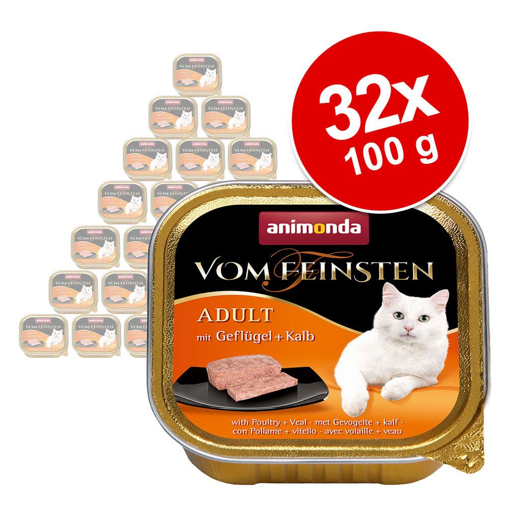 Ekonomipack: Animonda vom Feinsten Adult 32 x 100 g - Köttcocktail