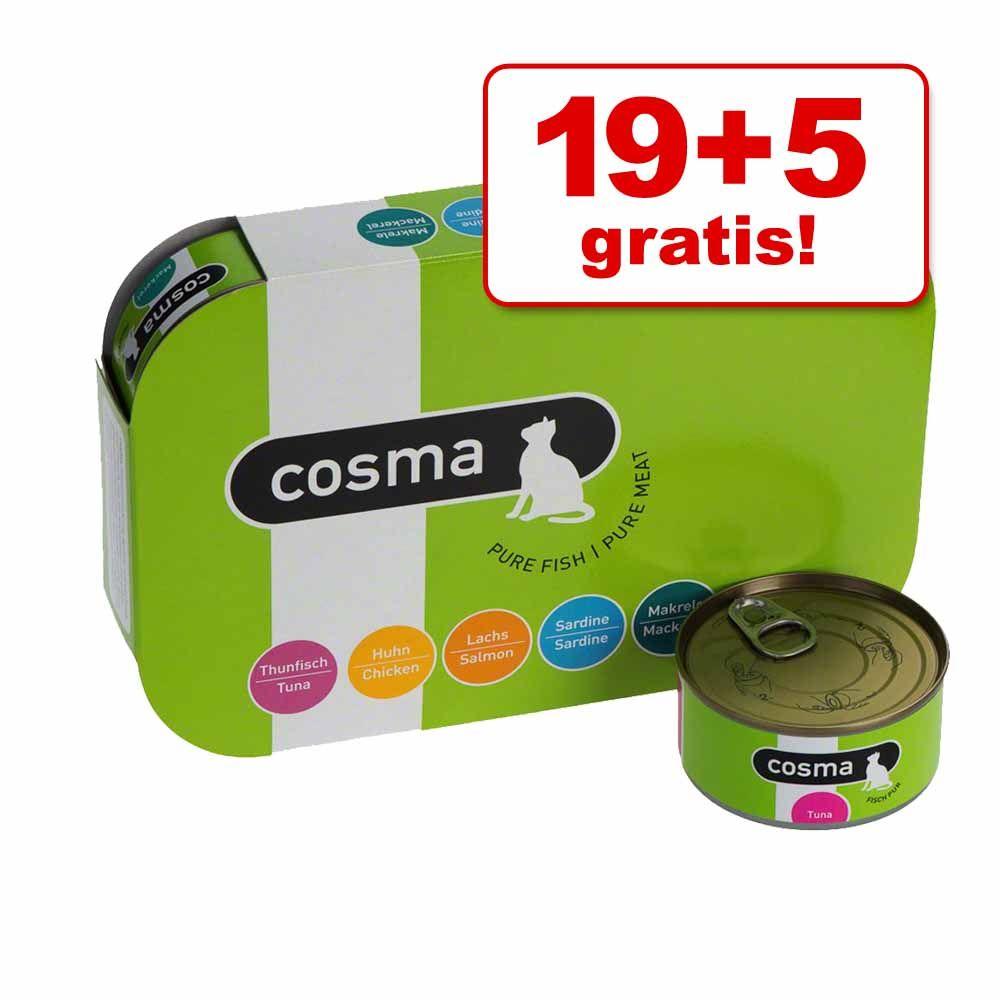 19 + 5 gratis! Cosma Original lub Thai, 24 x 170 g - Original: pakiet mieszany