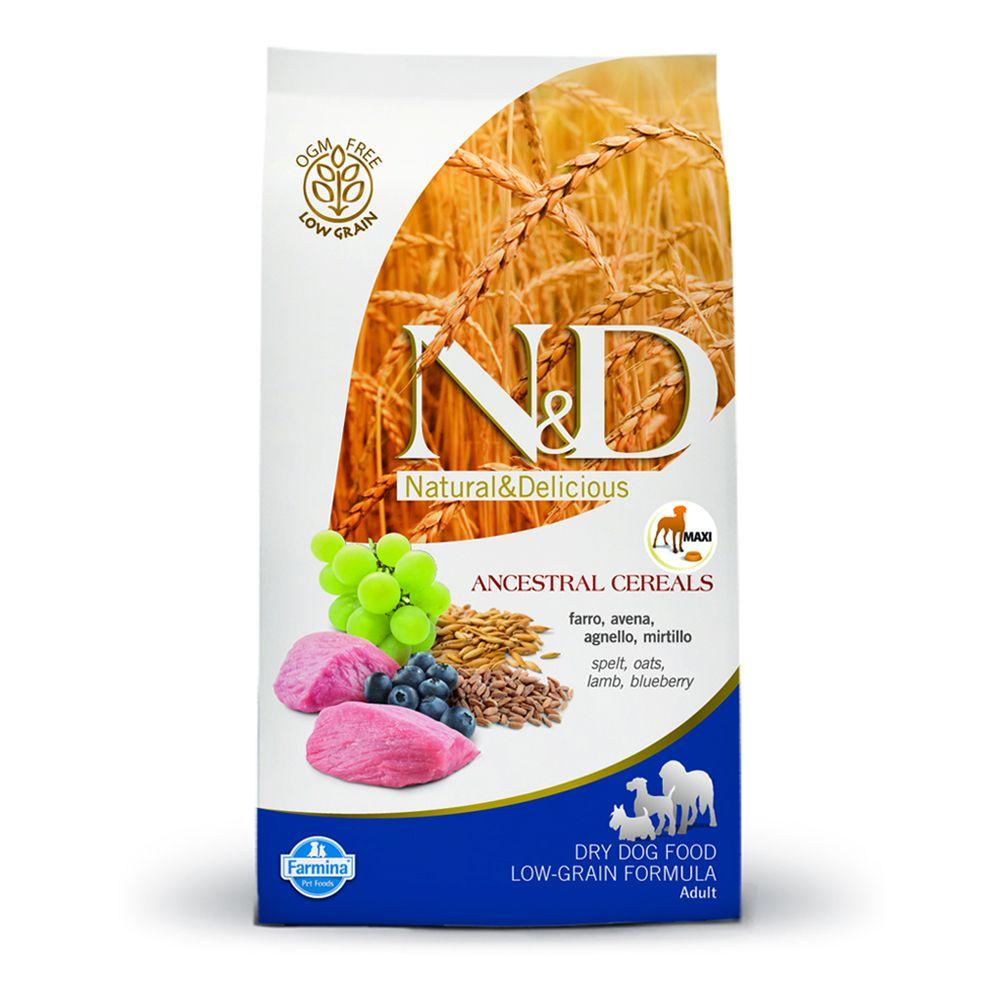 Image of Farmina N&D Low Grain Adult Maxi Agnello e Mirtillo - 12 kg