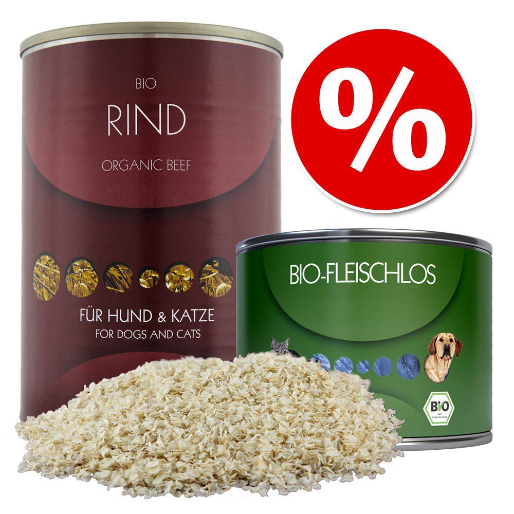 """Image of Set misto per cani e gatti Herrmanns Bio - Carne Equina Pura + fiocchi di riso + """"piatto di verdure"""""""