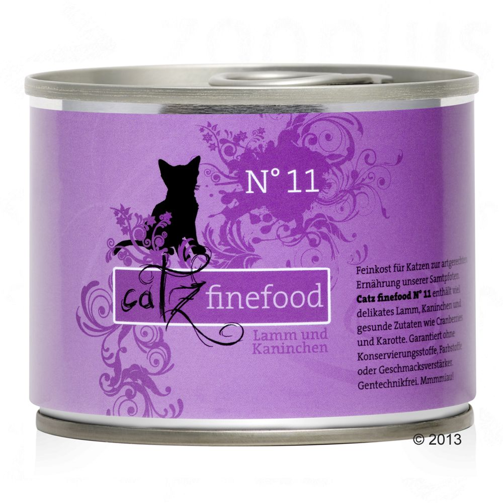 catz finefood på burk 6 x 200 g - Lax & fågel