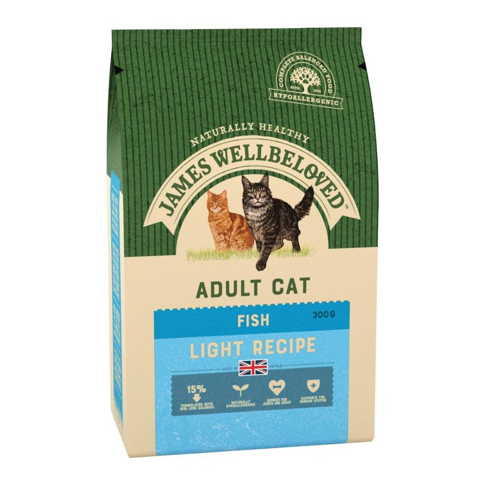 Fish Adult Cat Light Dry Food James Wellbeloved