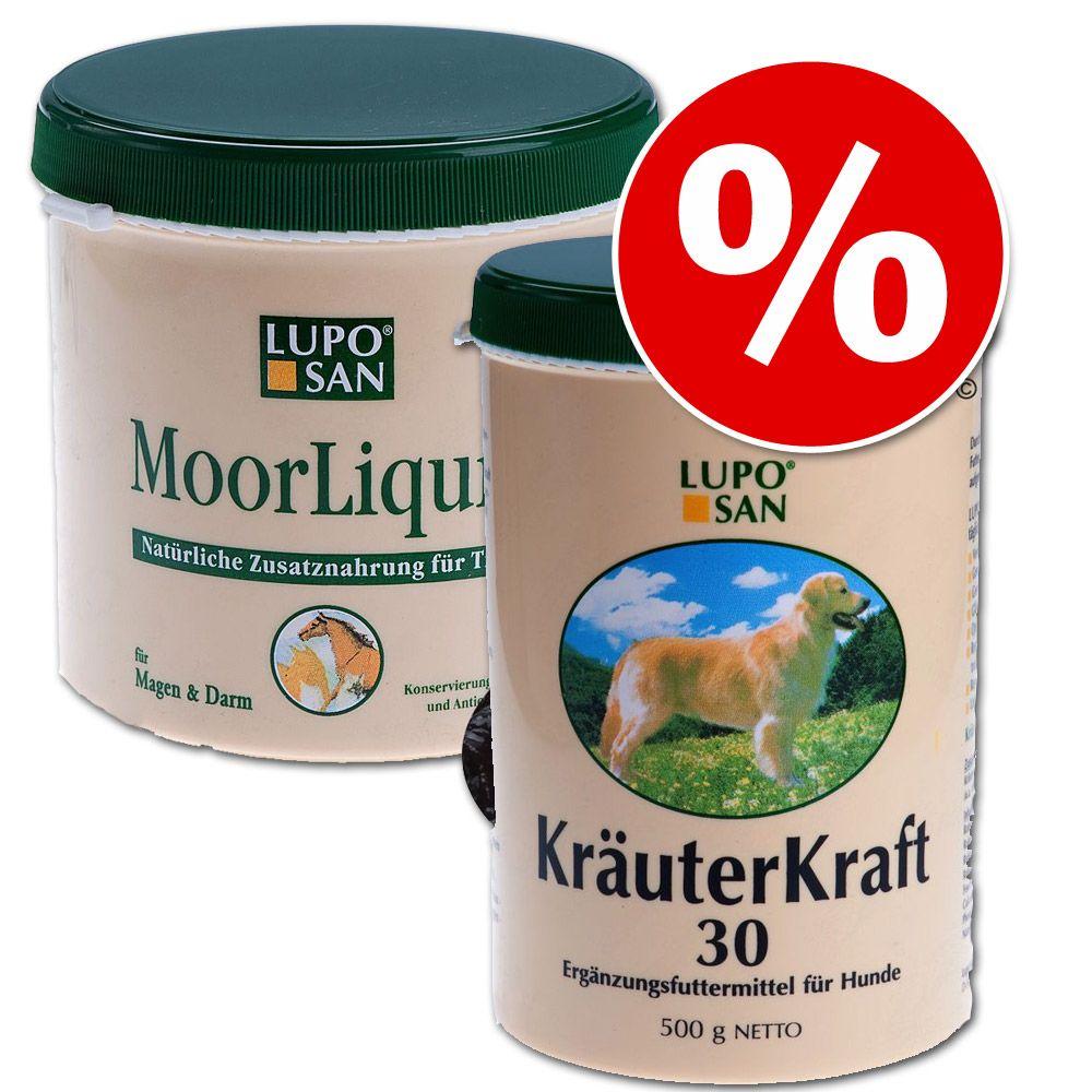 Set: Luposan Moorliquid + Luposan Kräuterkraft 30 Pulver - 2 x 500 g