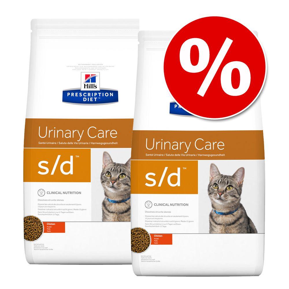 Hill's Prescription Diet Feline pienso para gatos - Pack Ahorro - c/d Urinary Stress Reduced Calorie 2 x 8 kg