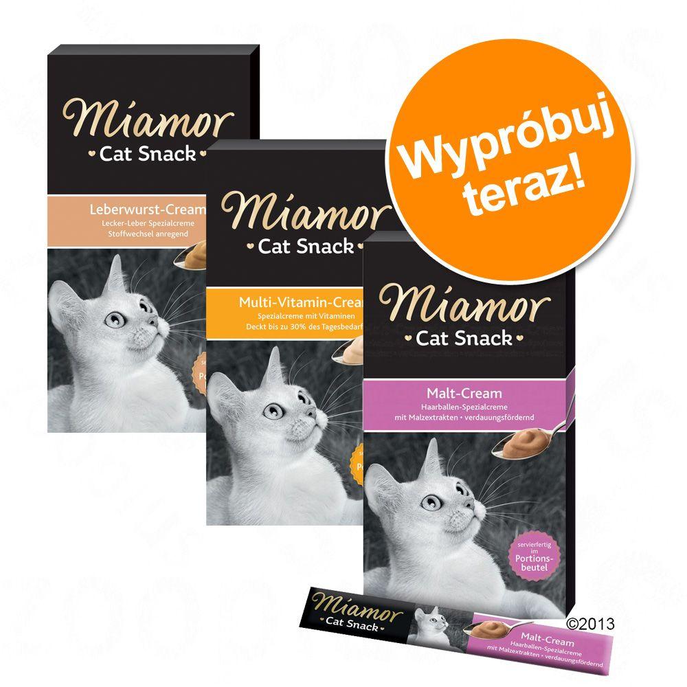 Mieszany pakiet próbny Miamor Cat Snack Cream - Pakiet II