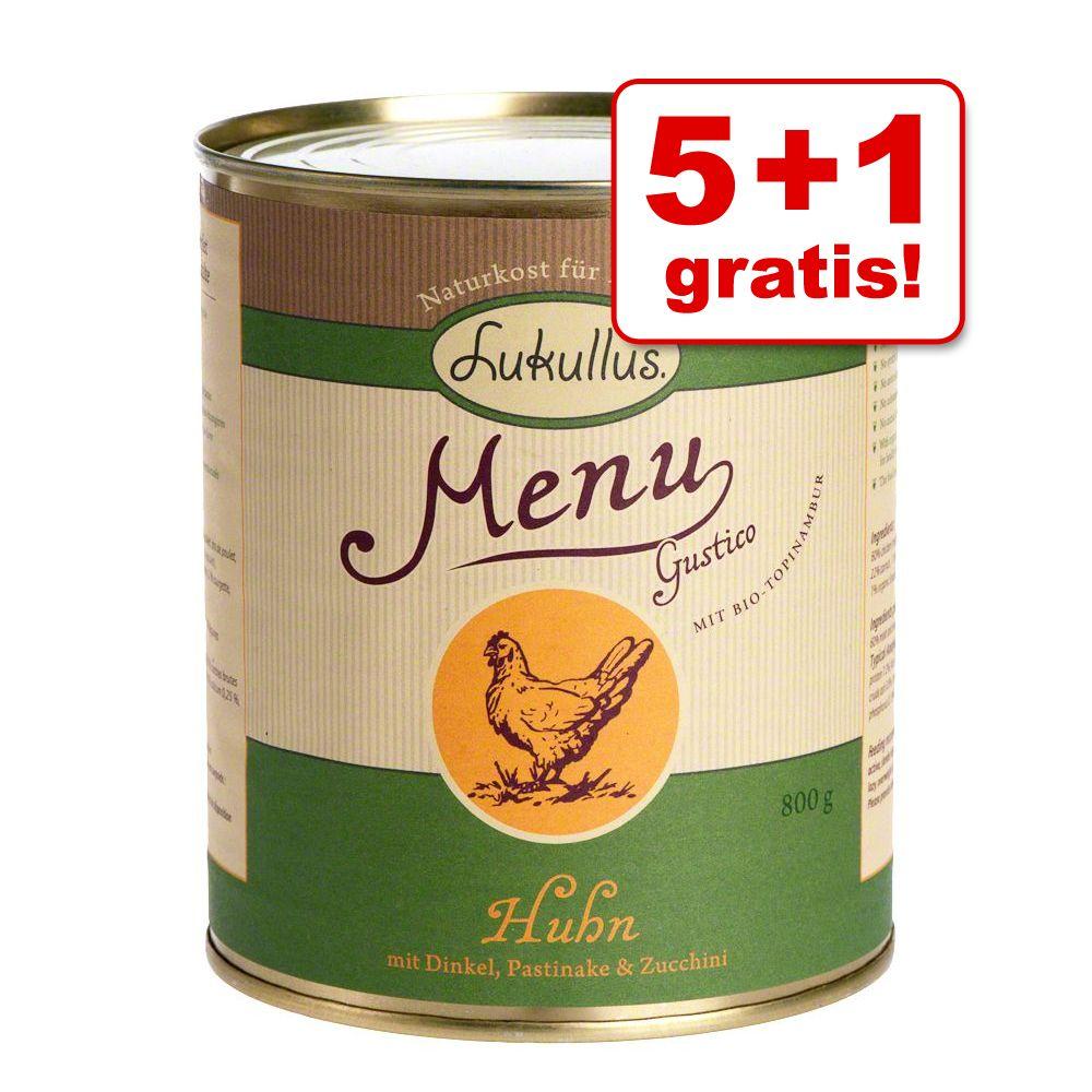 5 + 1 gratis! 6 x 800 g Lukullus Menu Gustico -...