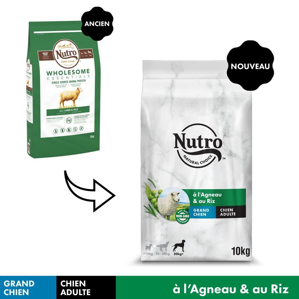 NUTRO Adult 30 kg+ agneau, riz pour chien - 10 kg