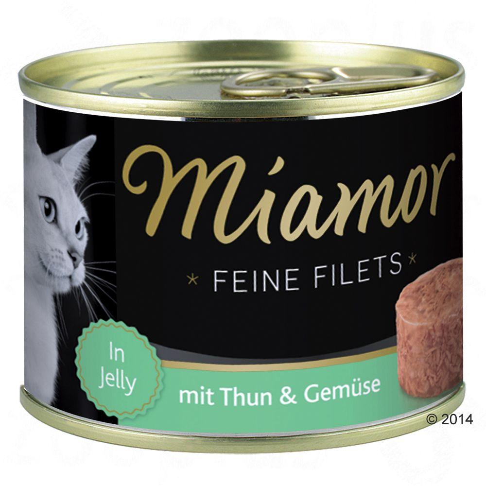 Miamor Feine Filets w puszkach, 6 x 185 g - Tuńczyk z ryżem