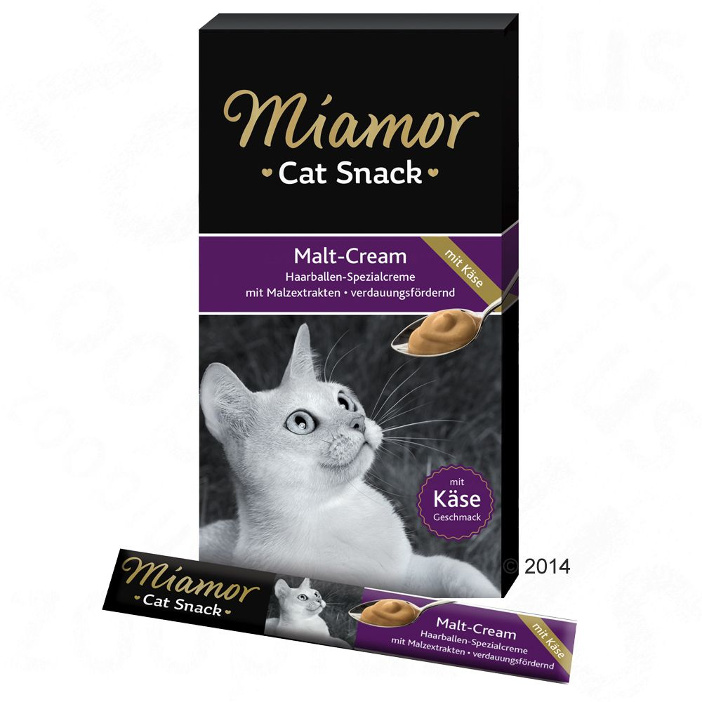 Miamor Cat Snack Malt Cream & Cheese - 6 x 15 g