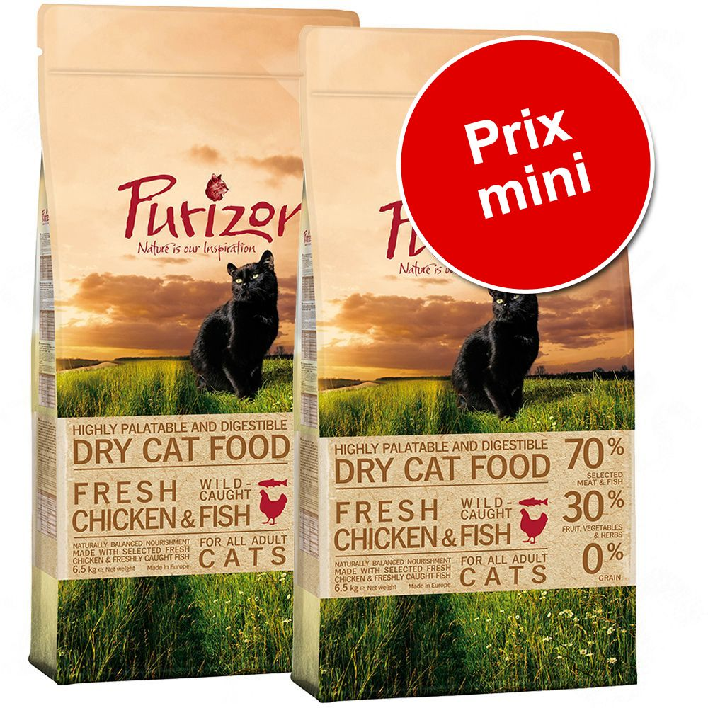 Chat Croquettes ★ Purizon Lots de croquettes sans céréales pour chat Purizon