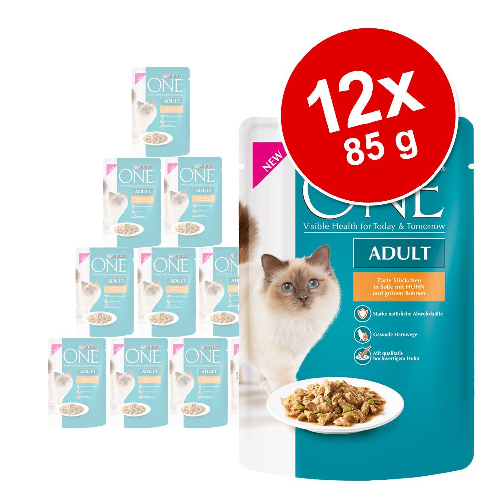 PURINA ONE Adult 12 x 85 g pour chat - bœuf, carottes