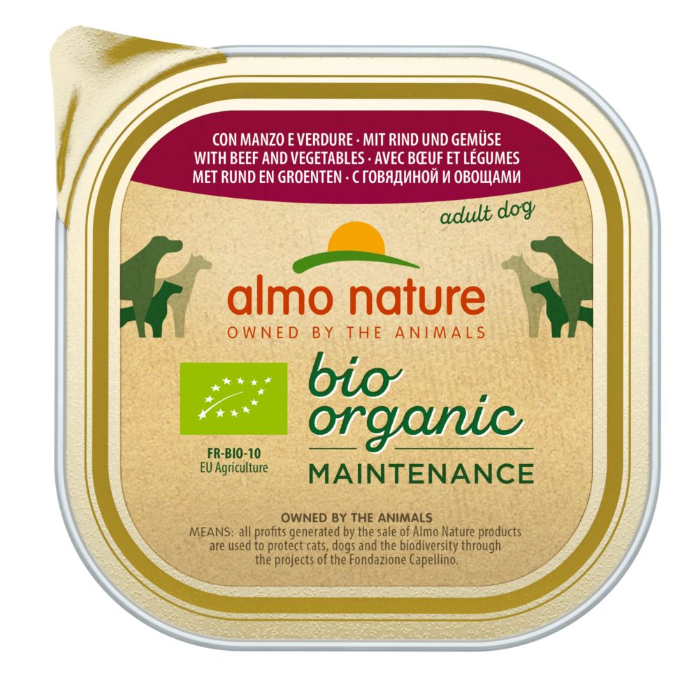 Almo Nature BioOrganic Maintenance 9 x 300 g - mit Bio Huhn & Bio Kartoffeln