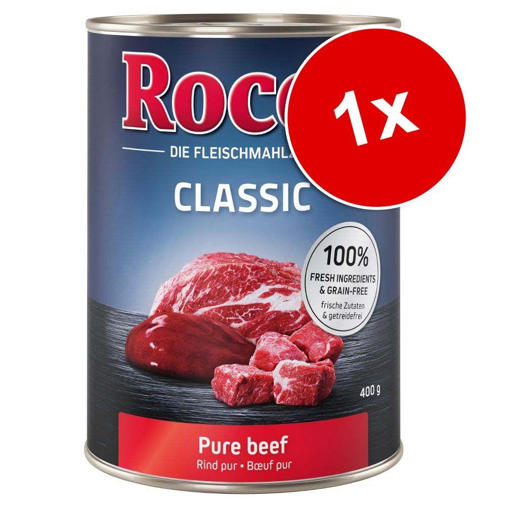 Rocco, 1 x 400 g - Real Hearts: Wołowina z całymi sercami kurczaka