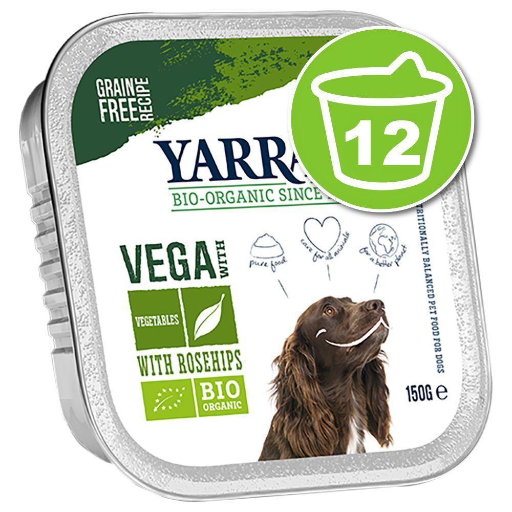 12x150g Vega bouchées végétariennes, légumes, cynorrhodon Yarrah - Nourriture pour chien