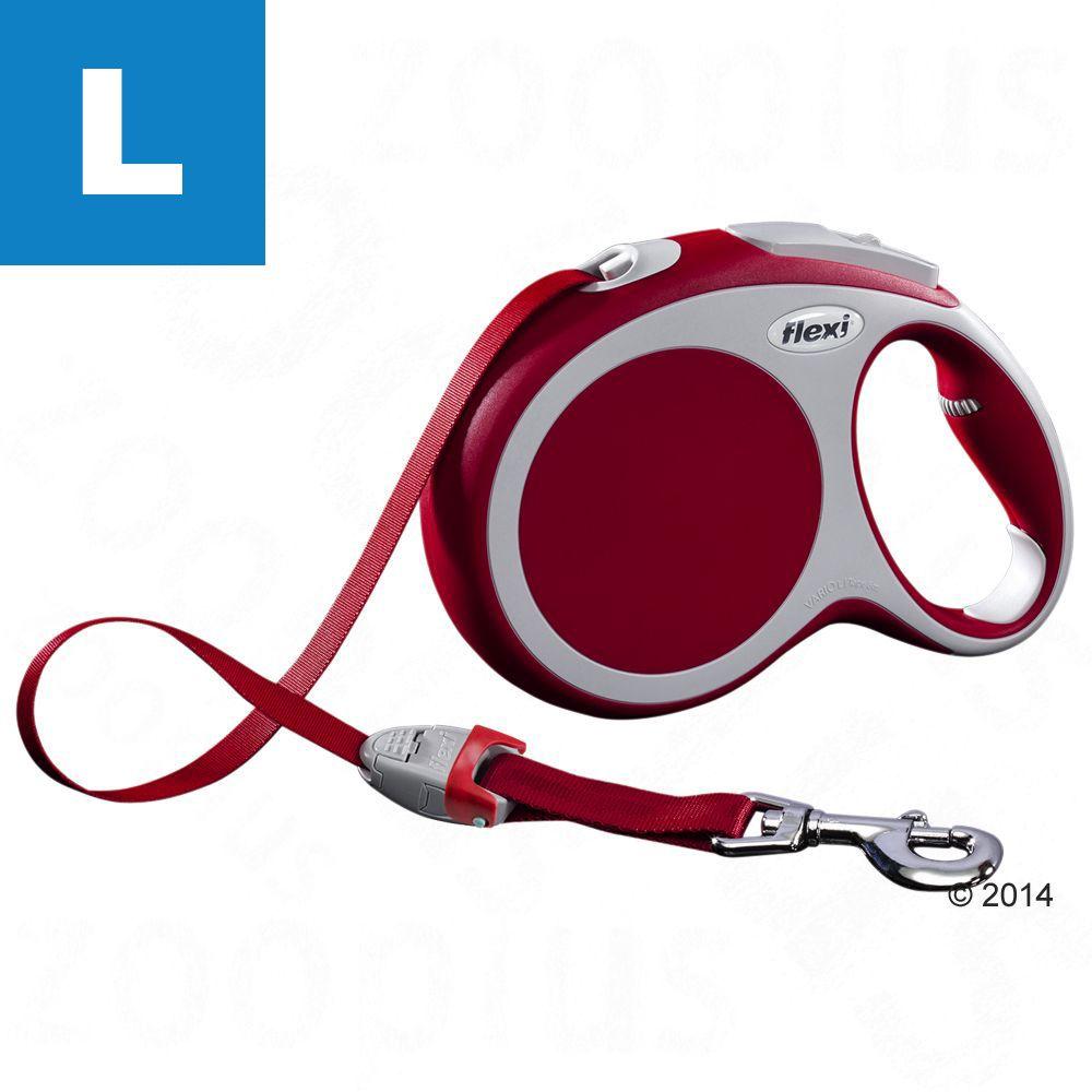 flexi Vario Gurt-Leine L rot, 8 m - LED Lighting System