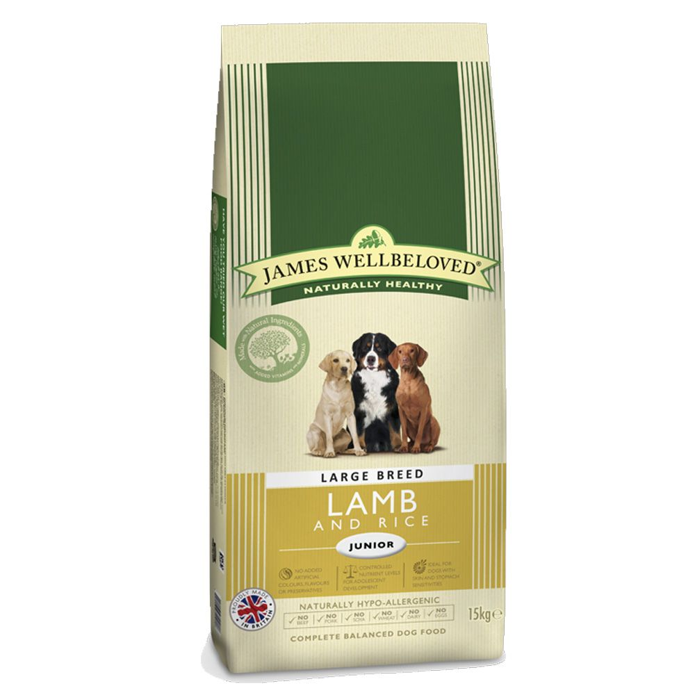 James Wellbeloved Junior Large Breed - Lamb & Rice - 15kg